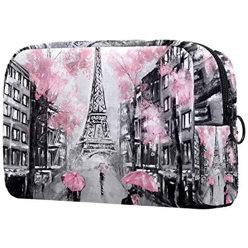 Kosmetische Reisetasche, Schminktasche, Schminktasche, Geburtstagsgeschenk, Jubiläumsgeschenk - Ölgemälde Paris Eiffelturm