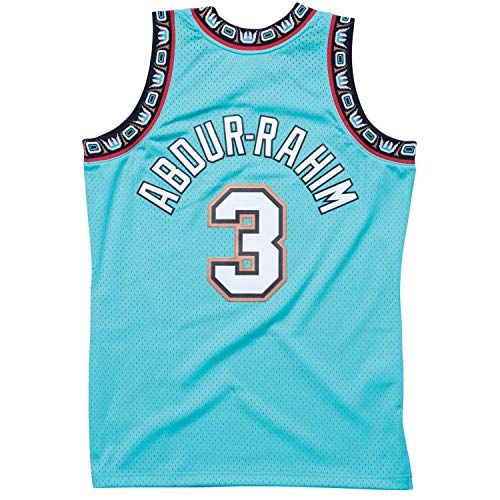 Mitchell and Ness Abdur-Rahim Teal Grizzlies #3 Swingman Jersey Teal XL