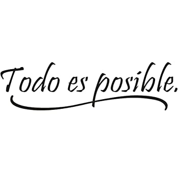 "Adesivi Murali Frase""Todo es posible"" Stickers Neri Frasi ..."
