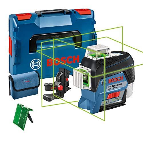 Bosch Professional 12V System Linienlaser GLL 3-80 CG (Ohne Akku, Universalhalterung BM 1, m. App-Funktion, grüner Laser, max. Arbeitsbereich: 30 m, Tasche, in L-BOXX)