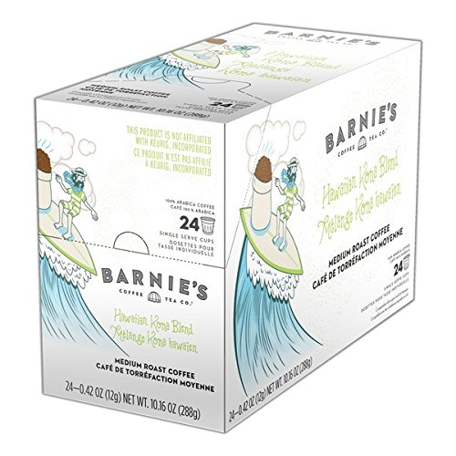 Barnie's Coffee Kitchen Hawaiian Kona Single Cup Coffee 24 Count Box 2.0 Compatible