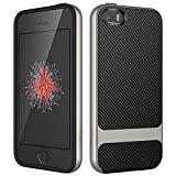 JETech Case for iPhone SE (2016 Edition), iPhone 5s and iPhone 5, Slim Protective Cover with Shock-Absorption, Carbon...