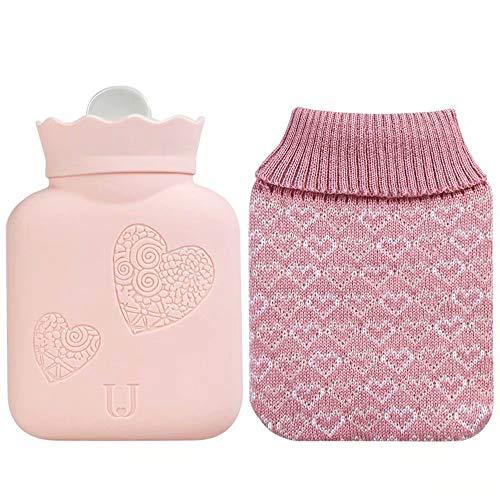 NZBⓇ Baby-Wärmflaschen mit gestrickten Bezügen Abnehmbare und waschbare Strickflaschenbezüge Schnelle Schmerzlinderung Komfort