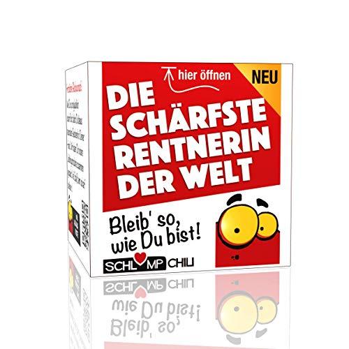 Schlump-Chili⎥Rentnerin Geschenk Set⎥Die schärfste Rentnerin der Welt - ein witziges Präsent für Frauen zum Ausstand, Ruhestand oder zur Rente (1 Stk.)