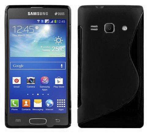 Cadorabo Custodia per Samsung Galaxy Ace 3 in Nero Profondo - Morbida Cover Protettiva Sottile di Silicone TPU con Bordo Protezione - Ultra Slim Case Antiurto Gel Back Bumper Guscio