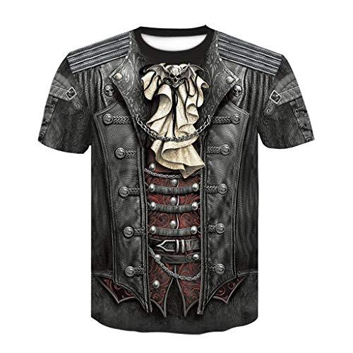 Realde Herren Kurzarm Top T-Shirt Komisch 3D Drucken Oder Rundhals Slim Fit...