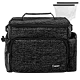 Inspirit Insulated Lunch Bag - Lunch Bag for Women, Mens Lunchbox for Work, 14-Can Insulated Lunch Box, Lunch Bags for Kids, Lunch Tote, Black