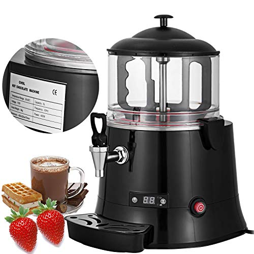 professional VEVOR Commercial Hot Chocolate Machine 400W Chocolate Drink Dispenser 5 liters Hot Chocolate…