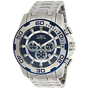 Invicta Men's Pro Diver Quartz Watch with Stainless-Steel Strap, Silver, 26 (Model: 22319)
