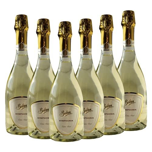 SYMPHONIA SPUMANTE EXTRA BRUT BALAN - Vino Spumante in Bottiglia di Vetro da 0,75 lt Tappo Sughero