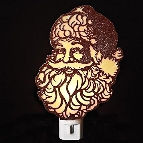 Traditional Santa Claus Face Christmas Night Light, 4 1/4 Inch