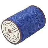 Carretes de costura de cuero 0,45 mm hilo de cera cordón de cera 160 m/rollo de reparación para tejer a mano(137 Royal Blue)