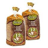 Multigrain Bread-2 Pack-18 oz Per Loaf | Delicious Sandwich Bread | Whole Grain Bread |Kosher Bread | Fresh Bread | Bakery Bread Sliced | Dairy & Nut Free | Stern's Bakery