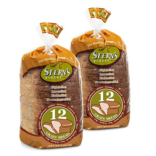Multigrain Bread-2 Pack-18 oz Per Loaf | Delicious Sandwich Bread | Whole Grain Bread |Kosher Bread | Fresh Bread | Bakery Bread Sliced | Dairy & Nut Free | Stern's Bakery