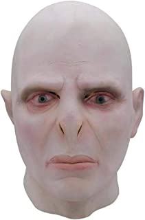 Halloween Voldemort Mask Headgear Headgear Costume Horror Cosplay Big Boss Voldemort Mask Headgear Party Supplies Costume Props for Adults