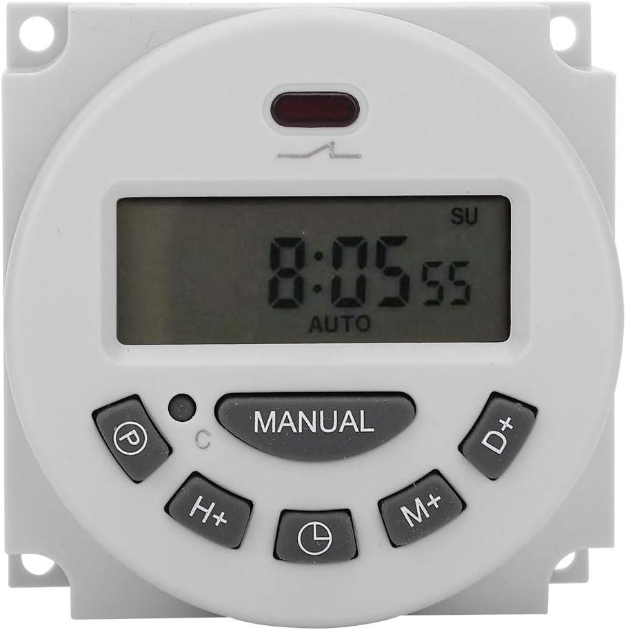 CN101A L701‑12V Interruptor de Control de Tiempo Programable Digital LCD Temporizador Electrónico de Microcomputadora Congeneroso