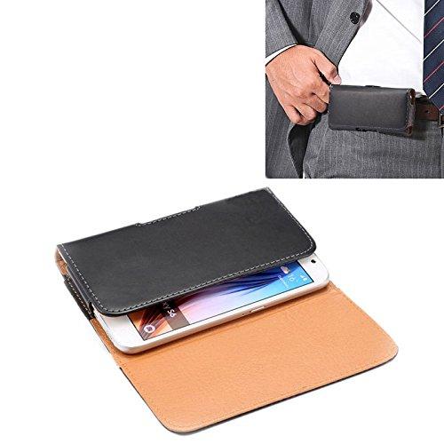 BANAZ Caso HNZZ teléfono for el iPhone X & Galaxy S6 / Caso G920 Caballo Loco Textura Vertical del Cuero del tirón Bolsa de Cintura/Volver con férula