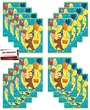 (16 Pack) Curious George Monkey Birthday Party Plastic Loot Treat Candy Favor Goodie Bags (Plus Party Planning Checklist by Mikes Super Store)