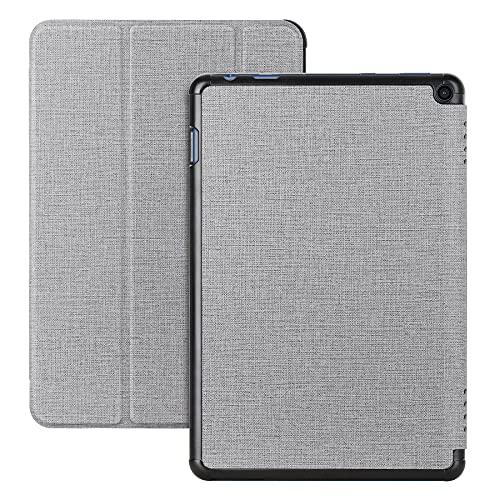 Cresee Hülle für Fire HD 10 Tablet (2021, 11. Generation) 10,1 Zoll, Flip Case [Auto Schlaf/Wach] [Magnetverschluss] [Standfunktion] Book Cover Tasche Folio Schutzhülle für Fire HD 10 2021, Grau