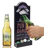 Goldmiky Abrebotellas de Pared ,Sacacorchos de Pared, Abridor Cerveza,Accesorios de Bar en Casa,Regalo para Padres, Abridor de Botellas de Cerveza de Madera para Bar, Cocina, (estilo A)