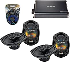 Compatible with Dodge Caliber 2007-2012 Factory Speaker Upgrade Harmony (2) R69 & CXA300.4 Amp (Renewed)