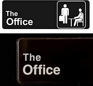 The Office Sign - Self Adhesive, 9 x 3 Inch (Black/White) - Mount on Door or Wall - Great Gift - The Office Merchandise
