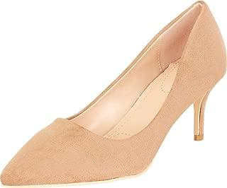 Cambridge Select Women's Pointed Toe Slip-On Mid Heel Pump