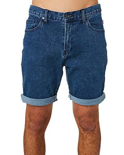 Globe Frenzy Denim Short Homme, Indigo (Deep Indigo), 30