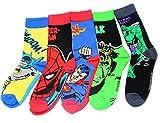 Jintong 5 Pairs Männer Socken Roman Comics Avenger Captain America Cartoon Socken Batman Superman Iron Man Hulk Socken Frauen Baumwolle Paar Sox