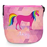 Umhängetasche für Kinder mit Namen Amy und schönem Einhorn-Motiv   Schultertasche für Mädchen