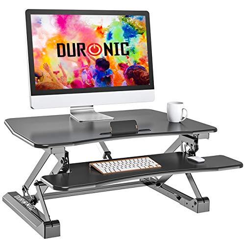 Duronic dm05d8Lotz eléctrico Escritorio estación de Trabajo PC Mesa de Altura Regulable–Elevador de Monitor y Teclado–Compatible con Brazo de Monitor Duronic
