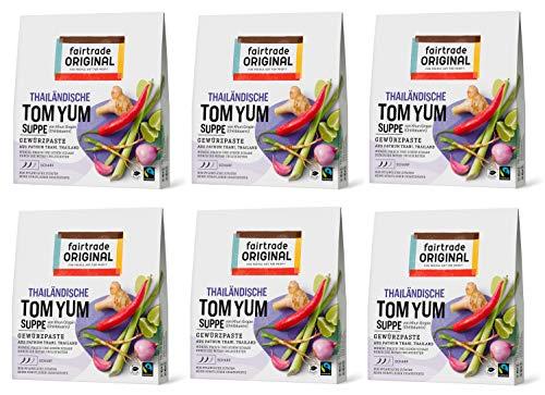 Tom Yum Paste von Fairtrade Original | Gewürzpaste für Suppe | Thai Gewürz| Kräuterpaste für Shrimp Suppe | Tom Kha Goong Suppe | Tom Yam Gewürzmischung | vegane Paste ohne künstliche Zusätze