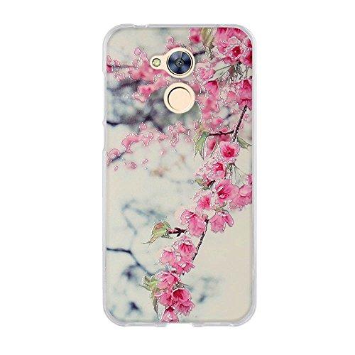 FUBAODA für Huawei Honor 6A Hülle, Hochwertiger Ultra Dünn TPU Silikon Bumper, Lebhafte Blumenzeichnungen, Kratzfest Langlebig, Stoßfest, Dauerhafter Schutz Handyhülle für Huawei Honor 6A (5.0