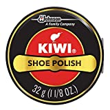 KIWI Shoe Polish, Black, 1 Metal Tin, 1.125 oz