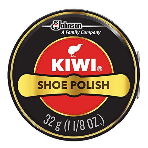 KIWI Shoe Polish, Black, 1 Metal Tin, 1.125 oz
