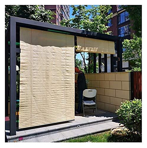 YJFENG Cortinas Enrollables Exteriores, Protección De Privacidad Pantalla De Sombra, Proteccion Solar Filtro De Luz, para Pérgola De Cubierta, con Gancho Adhesivo (Color : Beige, Size : 90x160cm)