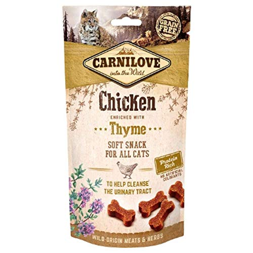 Carnilove Semi-Moist Snack Chicken & Thyme Premios para Gato 50G - Paquete de 32 x 1.56 gr - Total: 50 gr