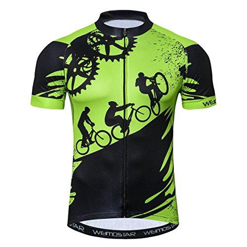 Weimostar Maillot de ciclismo para hombre de manga corta para bicicleta de...