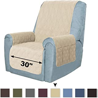 SOFTOWN Recliner Chair Cover Non-Slip Recliner Sofa Cover 100% Waterproof Furniture Protector Couch Covers for Dog Pets