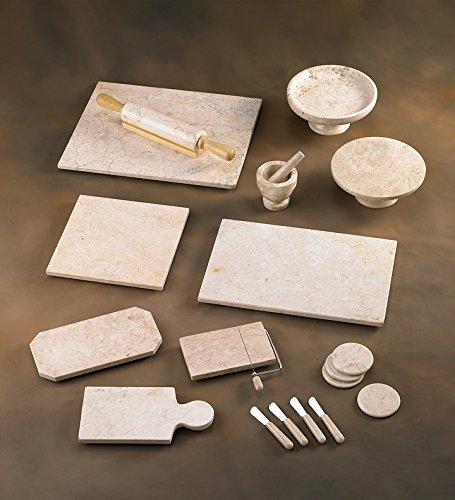 "Creative Home Champagne Marble 4"" x 4"" Mortar & Pestle Set"