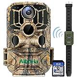 Cámara de caza, 20MP 1296P con 3 sensores infrarrojos, 36 l