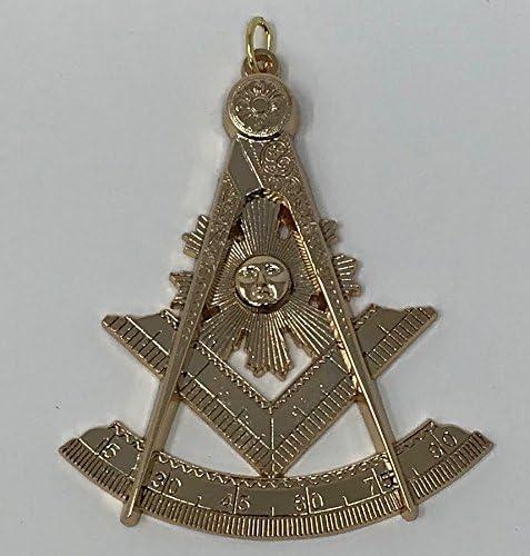 Masonic Past Master Collar Jewel in Gold Tone