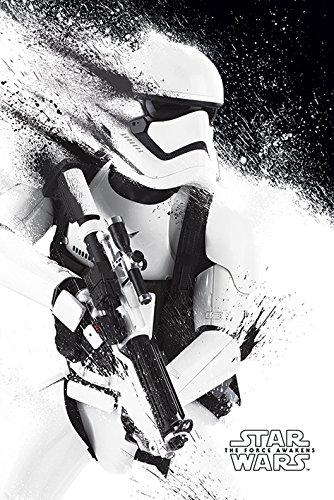Star Wars Épisode VII - Stormtrooper Unisexe Poster Noir/Blanc, Papier, 61 x 91,5 cm