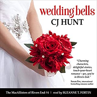 Wedding Bells     A Rivers End Romance Novella (Jenna+Isaac=HEA) (The MacAllisters of Rivers End, Book 4)              Written by:                                                                                                                                 CJ Hunt                               Narrated by:                                                                                                                                 Suzanne T. Fortin                      Length: 1 hr and 59 mins     Not rated yet     Overall 0.0