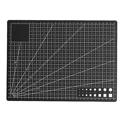 MJJEsports zelfgenezende snijmat Professionele dubbelzijdige flexibele stof Grid Mat, A4, 1