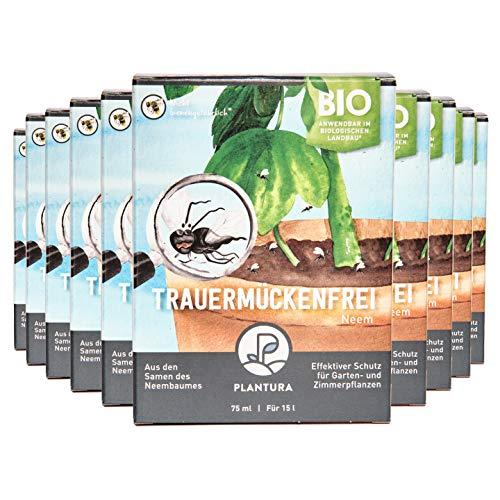 Plantura Bio Trauermückenfrei Neem, 10er Set, wirksames Gießmittel gegen Trauermücken aus Neem, 750 ml