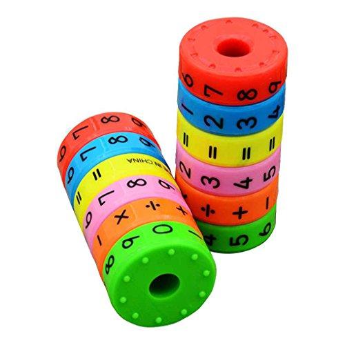 Bobury Magnética aprendizaje de las matemáticas Cilindro Números Juguetes...