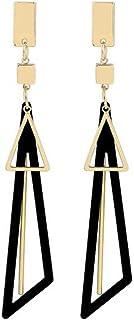 Fashion Drop Triangle Earrings 925 Sterling Silver Long Dangle Earrings For Women Girls