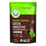 Kuli Kuli Organic Moringa Greens Smoothie Mix - Plant-Based Superfood Protein Smoothie Mix, Dark Chocolate, 8.9 Ounce Pouch, Vegan and Gluten-Free with 8g Pea Protein and 1 Cup Greens Per Serving