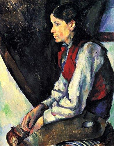 Het Museum Outlet - Jongen met Rood Vest door Cezanne - Poster Print Online kopen (60 X 80 Inch)